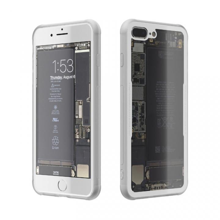 iPhone7 Plus ケース 背面強化ガラスケース Eureka Translucent ホワイト iPhone 7 Plus_0