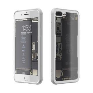 背面強化ガラスケース Eureka Translucent ホワイト iPhone 7 Plus
