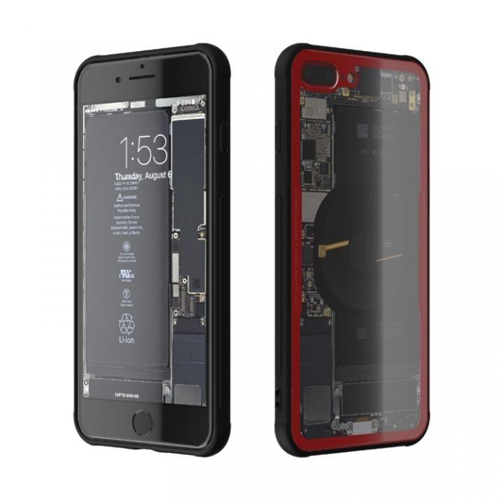 iPhone8 Plus ケース 背面強化ガラスケース Eureka Translucent レッド iPhone 8 Plus_0