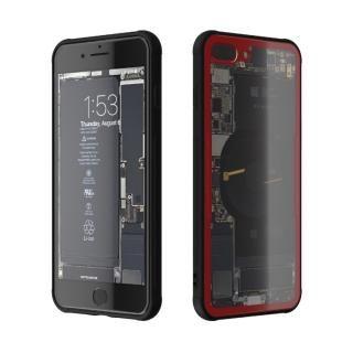 背面強化ガラスケース Eureka Translucent レッド iPhone 8 Plus