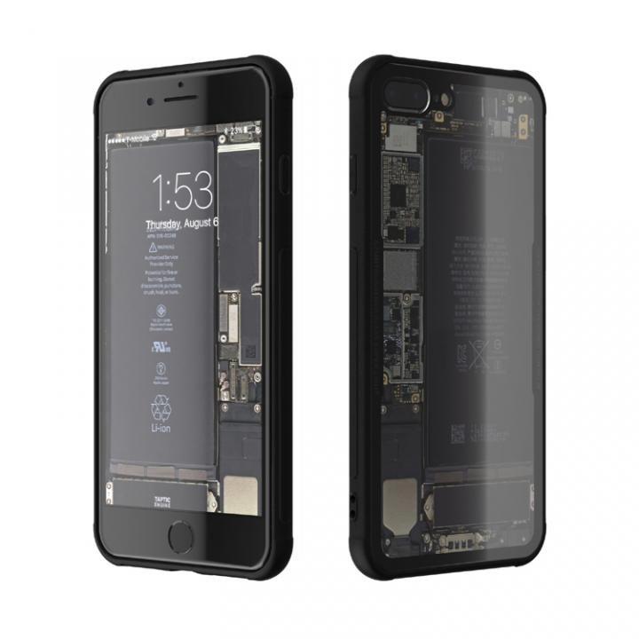 背面強化ガラスケース Eureka Translucent ブラック iPhone 7 Plus