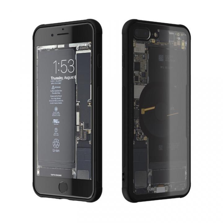 iPhone8 Plus ケース 背面強化ガラスケース Eureka Translucent ブラック iPhone 8 Plus_0