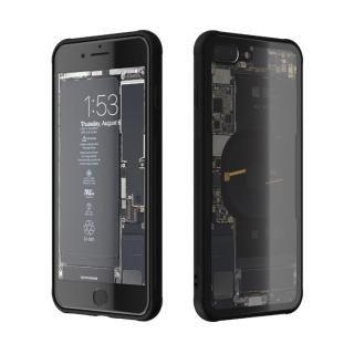 背面強化ガラスケース Eureka Translucent ブラック iPhone 8 Plus