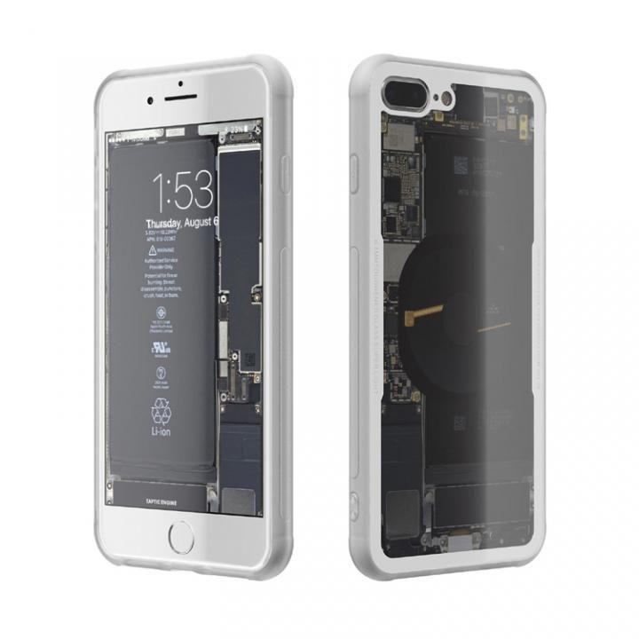iPhone8 Plus ケース 背面強化ガラスケース Eureka Translucent ホワイト iPhone 8 Plus_0