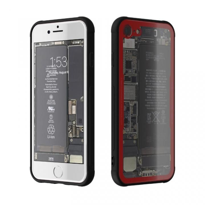 iPhone7 ケース 背面強化ガラスケース Eureka Translucent レッド iPhone 7_0