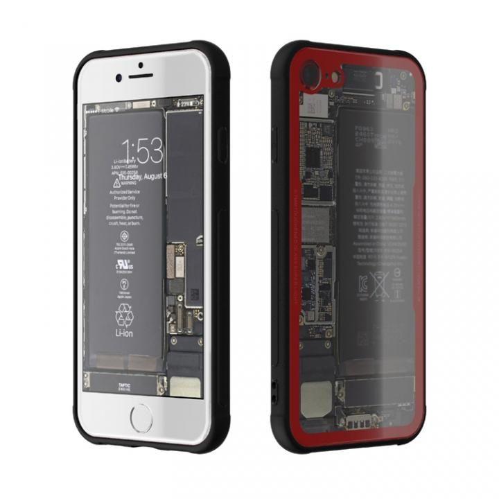 背面強化ガラスケース Eureka Translucent レッド iPhone 7