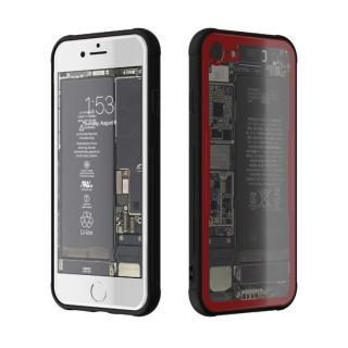 [AppBank先行]背面強化ガラスケース Eureka Translucent レッド iPhone 7【7月中旬】