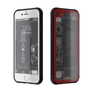 iPhone7 ケース 背面強化ガラスケース Eureka Translucent レッド iPhone 7