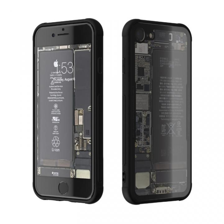 iPhone7 ケース 背面強化ガラスケース Eureka Translucent ブラック iPhone 7_0