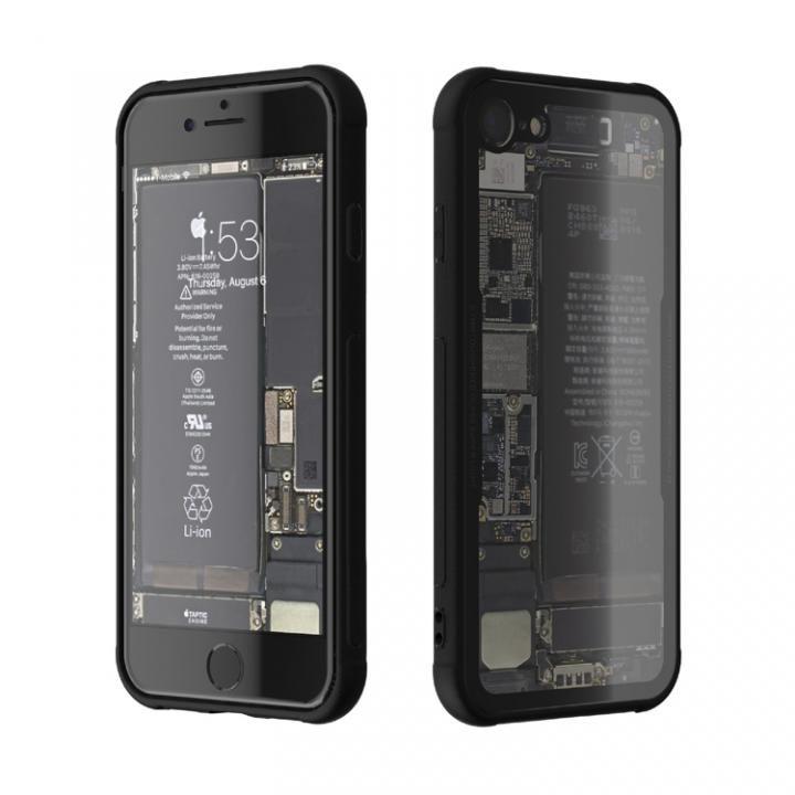 eda2ce3f2e iPhone7 ケース 背面強化ガラスケース Eureka Translucent ブラック iPhone 7_0 ...