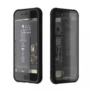 【iPhone7 ケース】背面強化ガラスケース Eureka Translucent ブラック iPhone 7