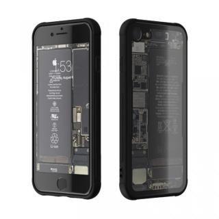 背面強化ガラスケース Eureka Translucent ブラック iPhone 7