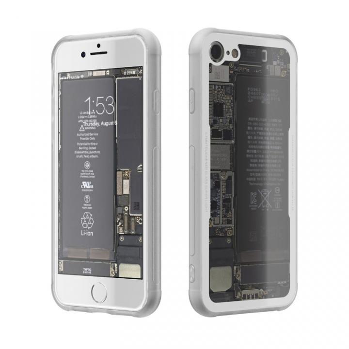 iPhone7 ケース 背面強化ガラスケース Eureka Translucent ホワイト iPhone 7_0