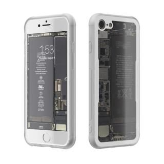 背面強化ガラスケース Eureka Translucent ホワイト iPhone 7