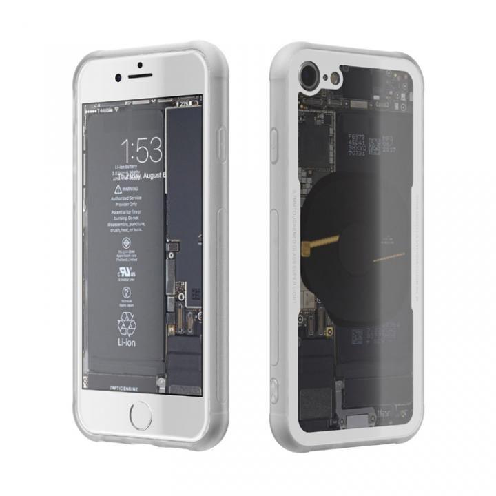 iPhone8 ケース 背面強化ガラスケース Eureka Translucent ホワイト iPhone 8_0