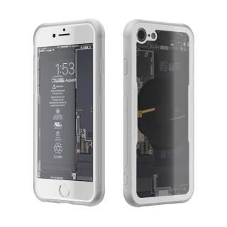 [AppBank先行]背面強化ガラスケース Eureka Translucent ホワイト iPhone 8【7月中旬】