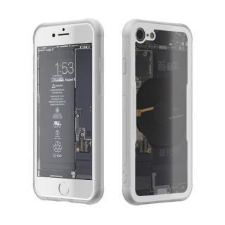 背面強化ガラスケース Eureka Translucent ホワイト iPhone 8