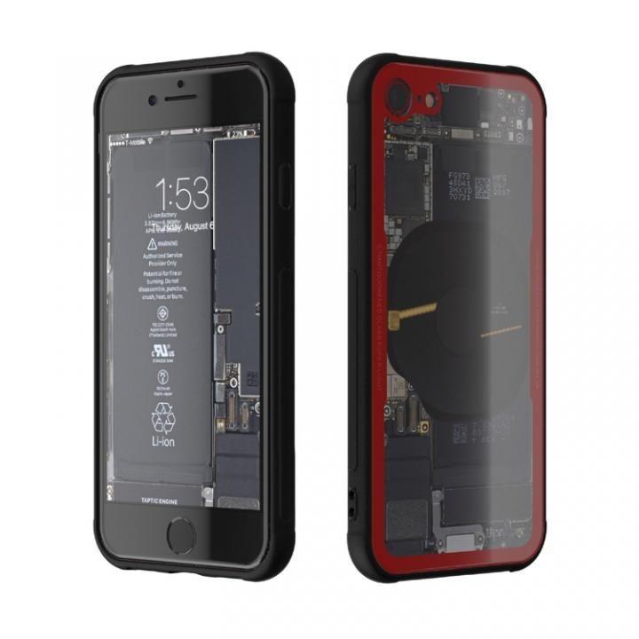 iPhone8 ケース 背面強化ガラスケース Eureka Translucent レッド iPhone 8_0