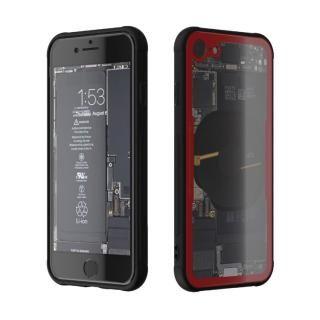 背面強化ガラスケース Eureka Translucent レッド iPhone 8