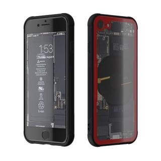 【iPhone8 ケース】背面強化ガラスケース Eureka Translucent レッド iPhone 8【7月下旬】