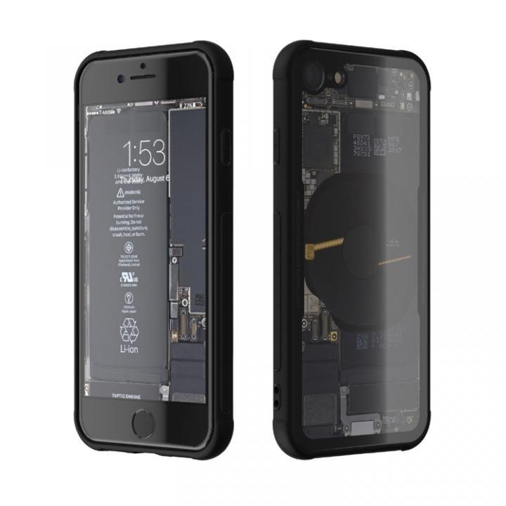 iPhone8 ケース 背面強化ガラスケース Eureka Translucent ブラック iPhone 8_0
