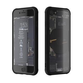 背面強化ガラスケース Eureka Translucent ブラック iPhone 8