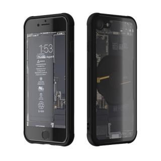 【iPhone8 ケース】背面強化ガラスケース Eureka Translucent ブラック iPhone 8
