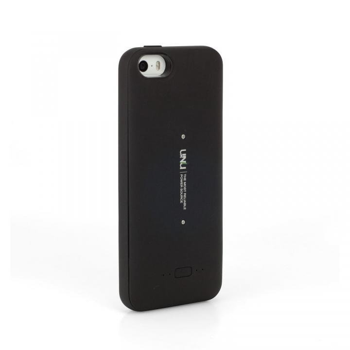 [2000mAh]ワイヤレス充電 バッテリー内蔵ケース Aero ブラック iPhone SE/5s/5ケース