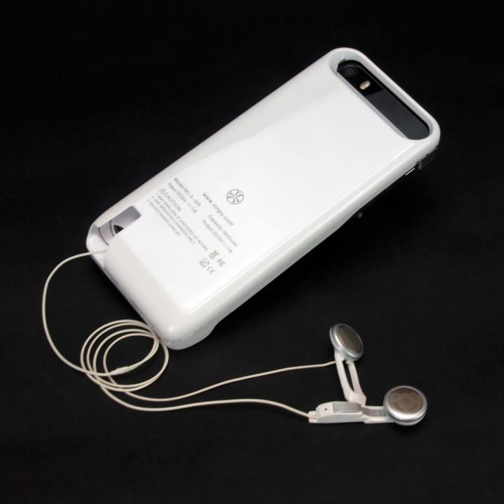 [1900mAh]巻取り式イヤホン一体型バッテリー内蔵ケース iPhone SE/5s/5ケース