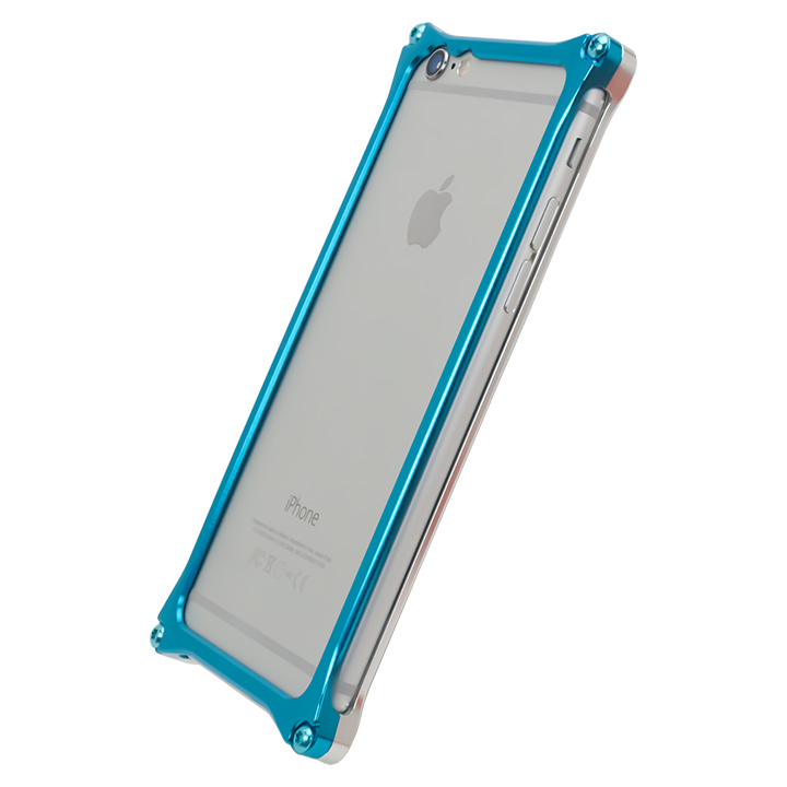 [設立記念セール][AppBank Store オリジナル]ソリッドバンパー シルバー×スカイブルー iPhone 6s/6