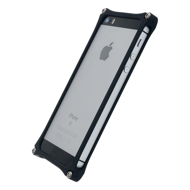 【iPhone SE/5s/5ケース】[AppBank Store オリジナル]ソリッドバンパー マットブラック iPhone SE/5s/5_0