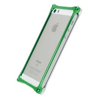 【iPhone SE/5s/5ケース】[AppBank Store オリジナル]ソリッドバンパー シルバー×アースグリーン iPhone SE/5s/5