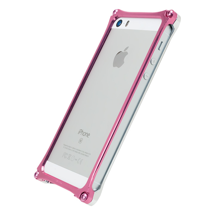 【iPhone SE/5s/5ケース】[AppBank Store オリジナル]ソリッドバンパー シルバー×ローズゴールド iPhone SE/5s/5_0