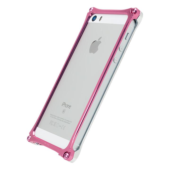 iPhone SE/5s/5 ケース [AppBank Store オリジナル]ソリッドバンパー シルバー×ローズゴールド iPhone SE/5s/5_0