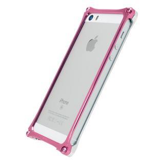[AppBank Store オリジナル]ソリッドバンパー シルバー×ローズゴールド iPhone SE/5s/5