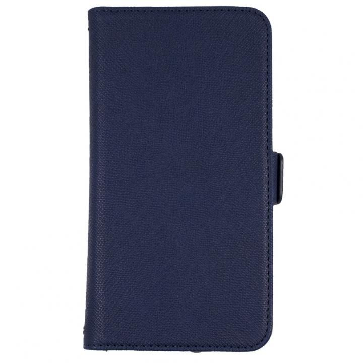 iPhone7/6s/6 ケース 5.2インチまでのスマホに対応 利き手を選ばない両開き手帳型マルチケース ネイビー_0
