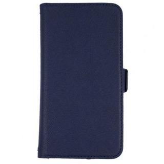 【iPhone7/6s/6ケース】5.2インチまでのスマホに対応 利き手を選ばない両開き手帳型マルチケース ネイビー