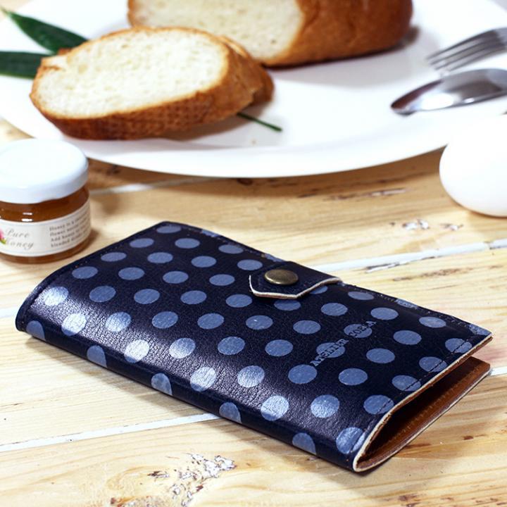 【iPhone6s/6ケース】手帳型ケース ドット柄ブラック iPhone 6s/6_0