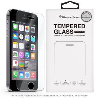 [4周年特価][0.33mm]硬度9H強化ガラス TEMPERED GLASS iPhone 5/5s/5c