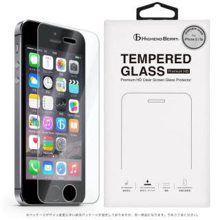 iPhone5s/5 フィルム [0.33mm]硬度9H強化ガラス TEMPERED GLASS iPhone 5/5s/5c