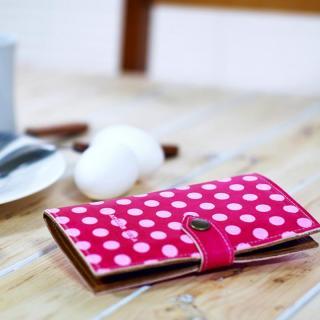 【iPhone6s/6ケース】手帳型ケース ドット柄ディープピンク iPhone 6s/6_1