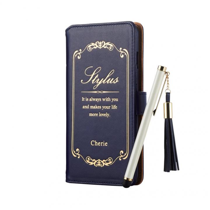 【iPhone6s/6s Plusケース】タッチペン付手帳型ケース Cherie  ネイビー iPhone 6s Plus/6 Plus_0