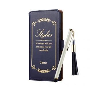 [夏フェス特価]タッチペン付手帳型ケース Cherie  ネイビー iPhone 6s Plus/6 Plus
