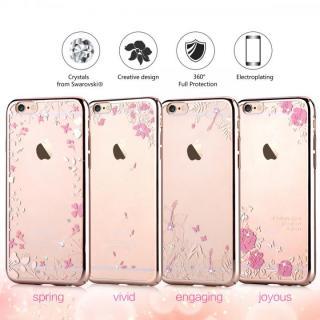 【iPhone6s/6ケース】スワロフスキーハードケース Crystal spring ローズゴールド iPhone 6s/6_2
