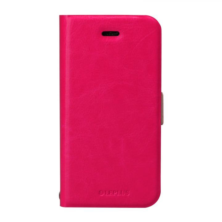 薄型PUレザー手帳型ケース 「PRIME」 ピンク iPhone SE/5s/5