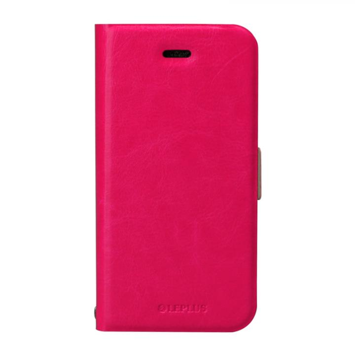 iPhone SE/5s/5 ケース 薄型PUレザー手帳型ケース 「PRIME」 ピンク iPhone SE/5s/5_0