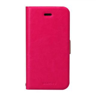 iPhone SE/5s/5 ケース 薄型PUレザー手帳型ケース 「PRIME」 ピンク iPhone SE/5s/5