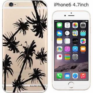 iPhone6 ケース コーディネートカラーハードケース iglno iglno. クリアパーム/ブラック iPhone 6ケース