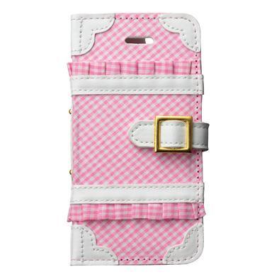 iPhone SE/5s/5 ケース トランクカバー ギンガムチェック iPhone SE/5s/5/5c 手帳型ケース_0