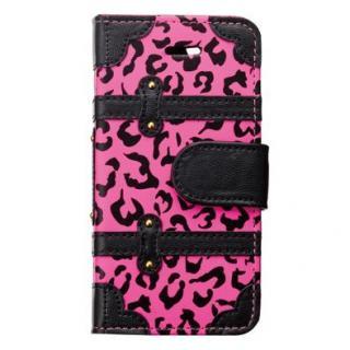 トランクカバー ピンクレオパード iPhone SE/5s/5/5c 手帳型ケース